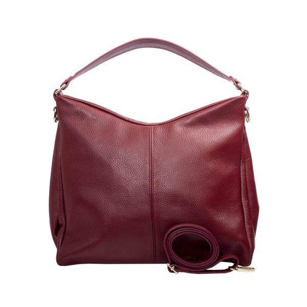 geanta incapatoare din piele rosie